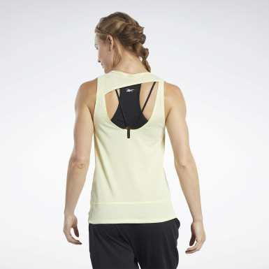 Women Fitness & Training Yellow ACTIVCHILL+COTTON Tank Top