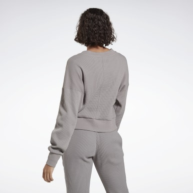 Women Pilates Grey Studio Layer Sweatshirt