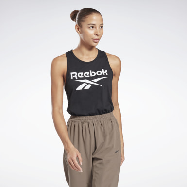 Women Fitness & Training Black Reebok Identity Tank Top