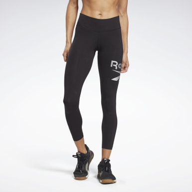 Leggings Reebok Identity Logo Nero Donna Fitness & Training