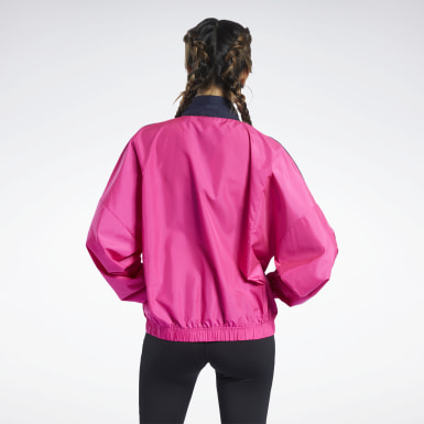 Dam Fitness & Träning Training Essentials Woven Linear Logo Jacket
