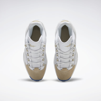 Men Classics White Question Low Men's Basketball Shoes