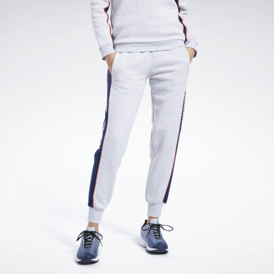 Kvinder Classics Grey Classics Linear Fleece Pants
