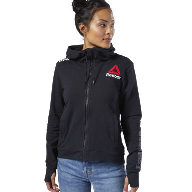 Sudadera UFC Fight Night Blank Walkout Negro Mujer Fitness & Training