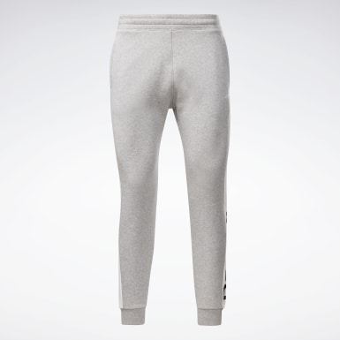 Jogger Training Essentials Linear Logo Grigio Uomo Fitness & Training