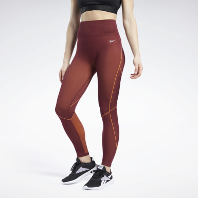 Dam Yoga Burgundy Meet You There 7/8 Tights