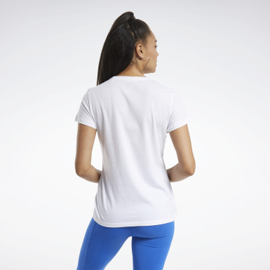 Women Fitness & Training White Training Essentials Graphic Tee