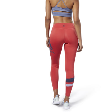 Women Training Red Workout Ready Big Delta Tights