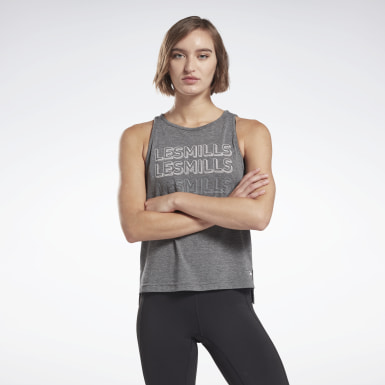 Women Studio Black LES MILLS® ACTIVCHILL+COTTON Tank Top
