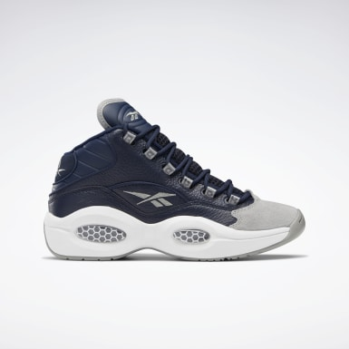Classics Grey Question Mid Men's Basketball Shoes