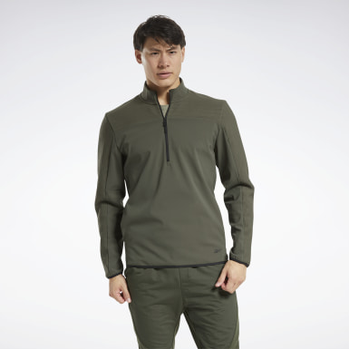 Men Hiking Thermowarm Deltapeak Quarter-Zip Sweatshirt