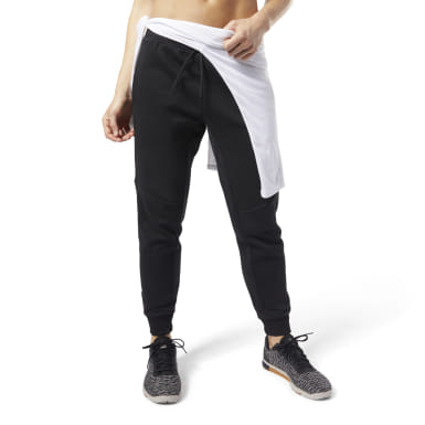 Pantaloni Training Essentials Linear Logo Nero Donna Fitness & Training