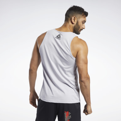 Men Cross Training Reebok CrossFit® Repeat Graphic Tank Top