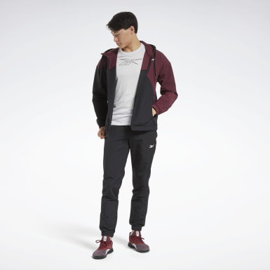 Men Fitness & Training Burgundy Track Suit