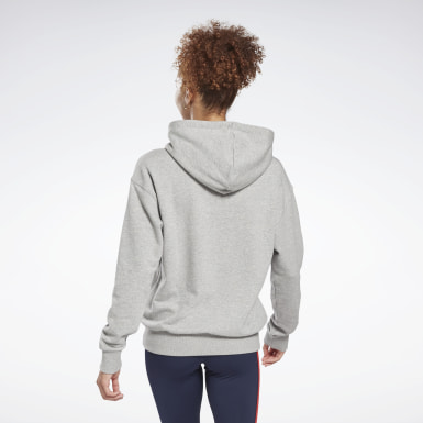 Women Fitness & Training Grey Reebok Identity Logo French Terry Hoodie