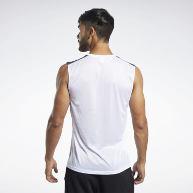 Men Hiking White Workout Ready Tech Tee