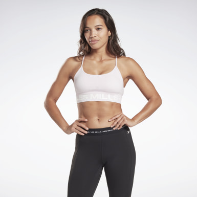 Women Studio Pink LES MILLS® Tri-Back Medium-Impact Bra