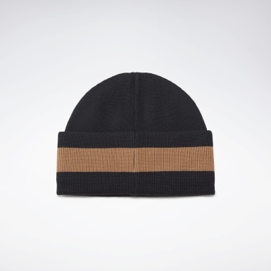 Women Casual Black VB Beanie