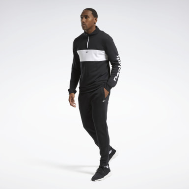 Men Fitness & Training Black Training Essentials Linear Logo Tracksuit