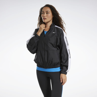 Chaqueta Training Essentials Woven Linear Logo Negro Mujer Fitness & Training