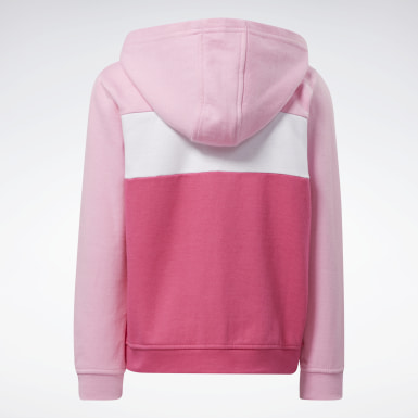 Sudadera Reebok Colorblock Rosa Niña Fitness & Training