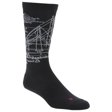 Training Black Active Enhanced Crew Socks