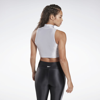 Women Yoga Zip Cropped Tank Top