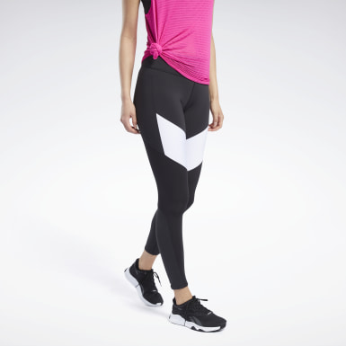 Women Training Black Lux Colorblock 2 Tights