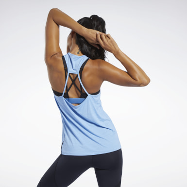 Women Fitness & Training Blue ACTIVCHILL Athletic Tank Top