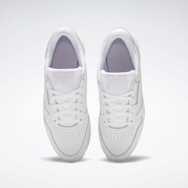 Women Classics White Classic Leather Double Shoes