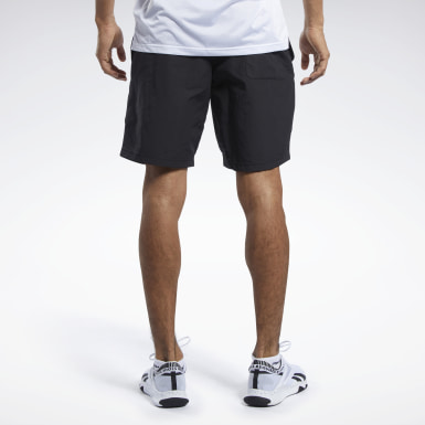 Men Hiking Black Training Essentials Utility Shorts