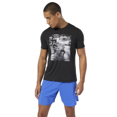 Men Running Black Run Essentials Tee