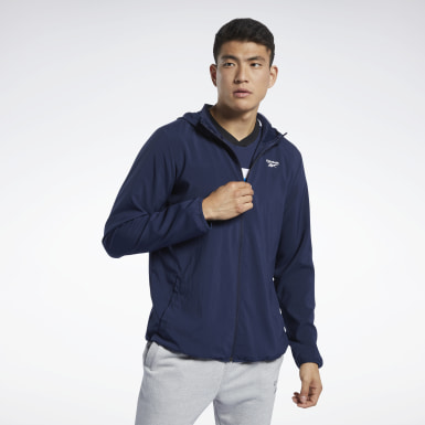 Men Cross Training Blue Training Essentials Jacket