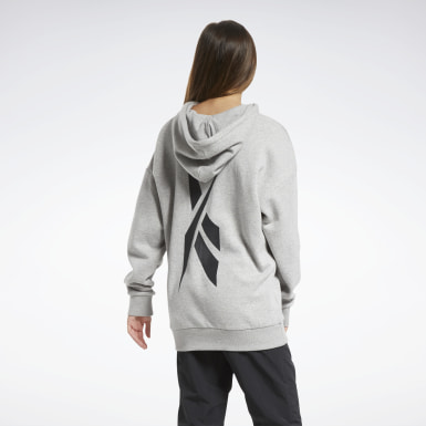 Felpa con cappuccio MYT Fleece Oversize Grigio Donna Fitness & Training