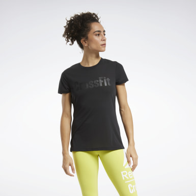 Women Cross Training Black Reebok CrossFit® Read Graphic Tee