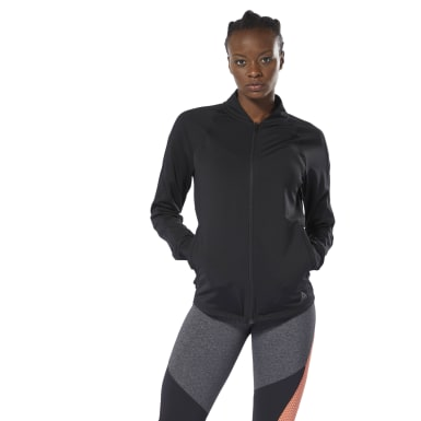 Women Training Black Track Jacket