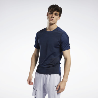 Men Hiking Blue United by Fitness ACTIVCHILL Vent Tee
