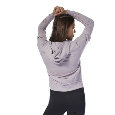 Women Fitness & Training Purple TE Marble Logo Full Zip