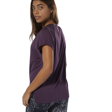 T-shirt semi-transparent Violet Femmes Fitness & Training