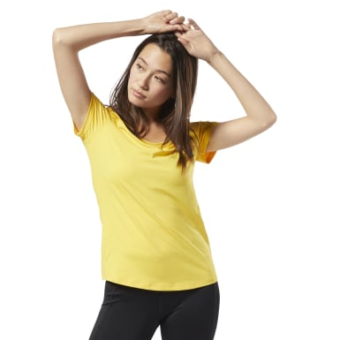 Women Fitness & Training Yellow Workout Ready Speedwick Tee