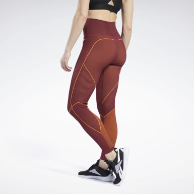 Women Training Burgundy Meet You There 7/8 Length Leggings