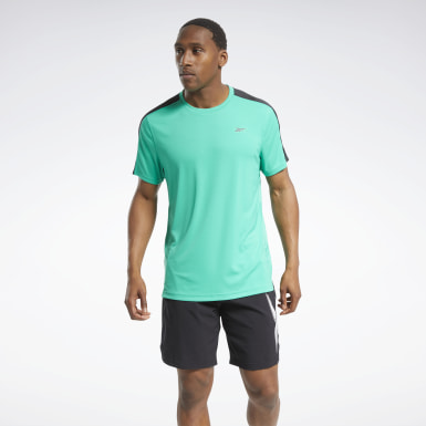 Men Training Turquoise Workout Ready Tech Tee