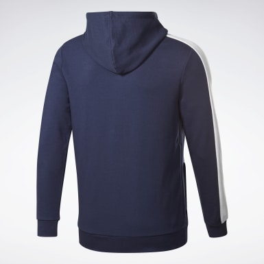 Sudadera Training Essentials Logo Azul Hombre Fitness & Training