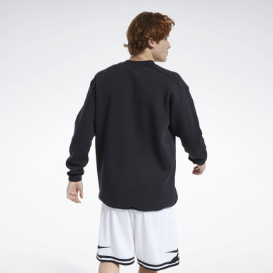 Men Classics Black Classics Team Sports Crew Sweatshirt