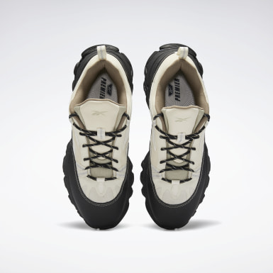 Running White Reebok DMX Trail Shadow Shoes