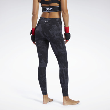 Dames Fitness & Training Zwart Combat Jacquard Lux Legging