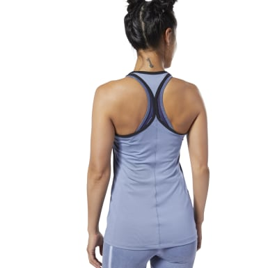 Women Studio Blue Second Skin Tank Top