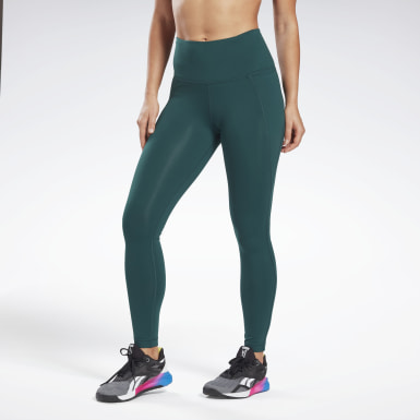 Women Training Green Lux High-Rise Leggings