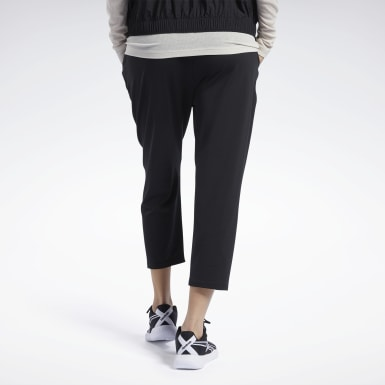 Pantaloni Jersey 7/8 Nero Donna Fitness & Training