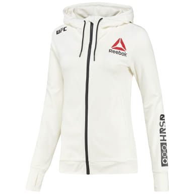 Dam Fitness & Träning Vit UFC Fight Night Blank Walkout Hoodie